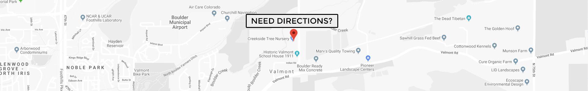 Need Directions to CreekSide Tree Nursery